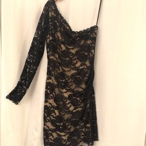 LG Black Bebe Dress with Lace